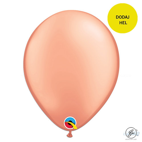 "Balon QL 11"", metal różowo-złoty"