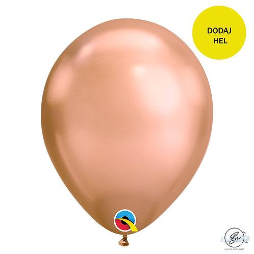 Balon 11 cali QL chrom różowozłoty
