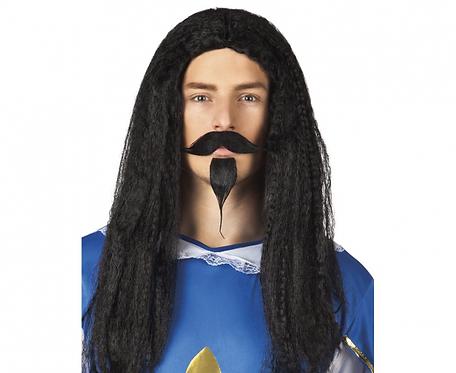 Peruka Muszkieter Gerard z wąsami i brodą