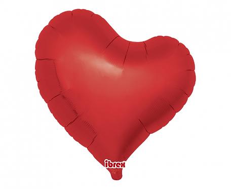 """Balon Ibrex, serce Sweet 14"""", Metallic Rubi Red"""