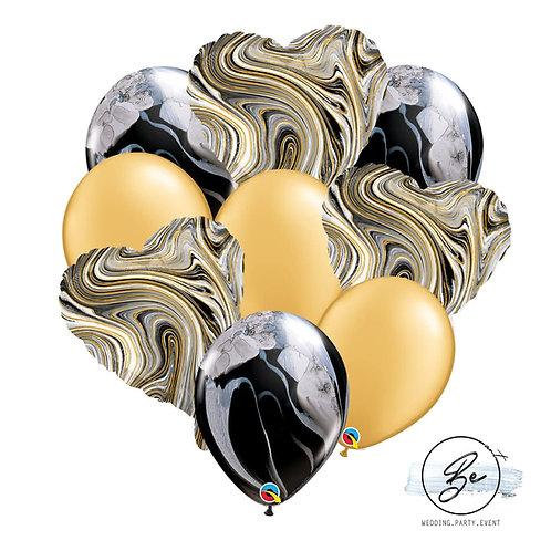 Bukiet balonowy Black Marble
