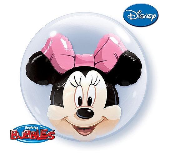 "Balon foliowy 24"" QL Bubble Pod. ""Minnie Mouse"""