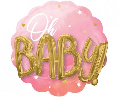 Balon foliowy SHP Pink Baby Girl, 71x71 cm
