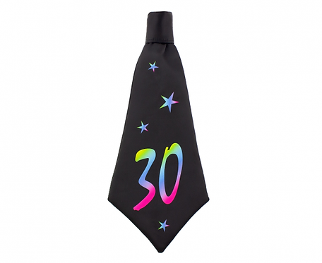 Krawat urodzinowy B&C 30, rozm. 42x18 cm