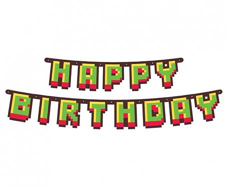 Girlanda papierowa Happy Birthday - Game On, 160 cm