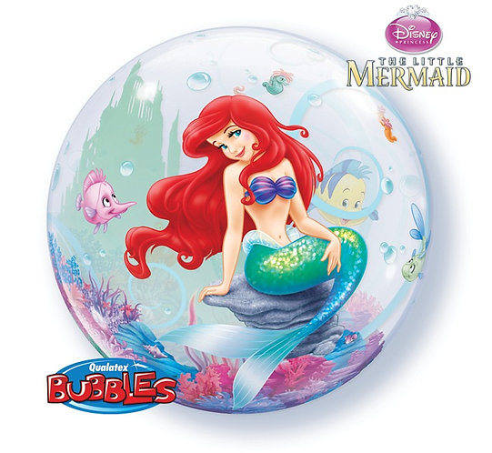 "Balon foliowy 22"" QL Bubble Poj. ""Little Mermaid"""