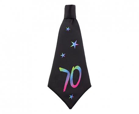 Krawat urodzinowy B&C 70, rozm. 42x18 cm