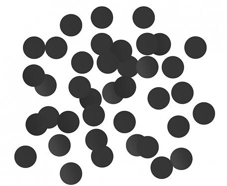Konfetti foliowe B&C Kółeczka, 1.5 cm, 18g, czarne