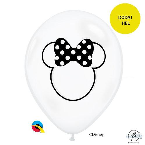 Balon QL 11 cali z nadr. Minnie Mouse ( transparentny)