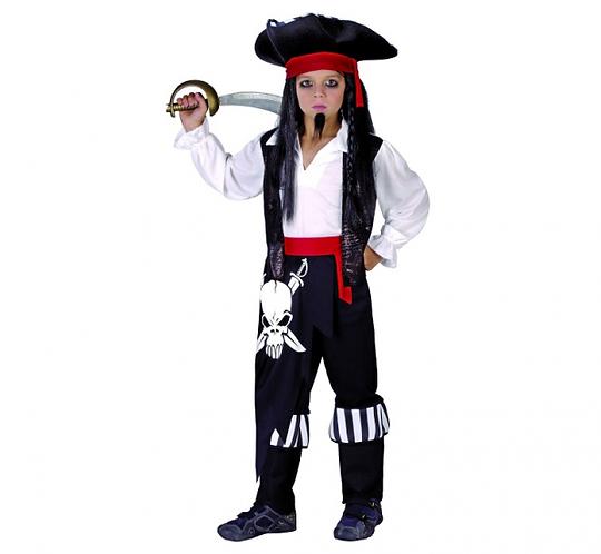 Strój dla dzieci Pirat kapitan, rozm. 120/130 cm