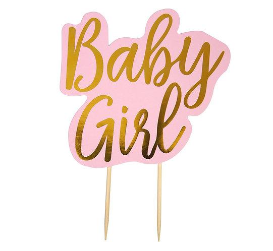 "Topper na tort ""BABY GIRL"""