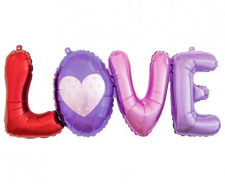 Balon foliowy Litery LOVE, 74 cm
