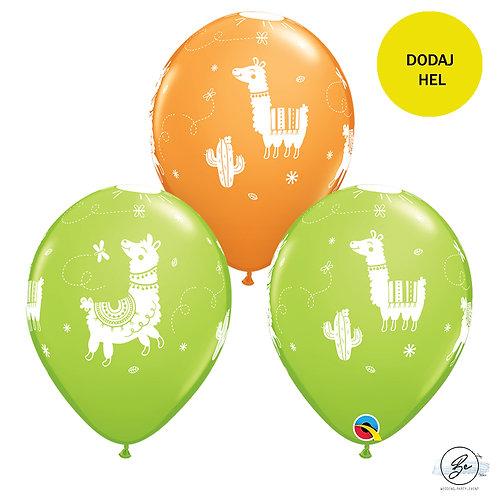 Balon QL 11 cali z nadr. Llamas