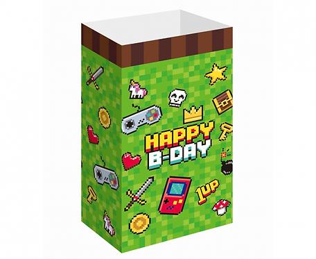 Torebki papierowe Game On, 25x13 cm, 6 szt.