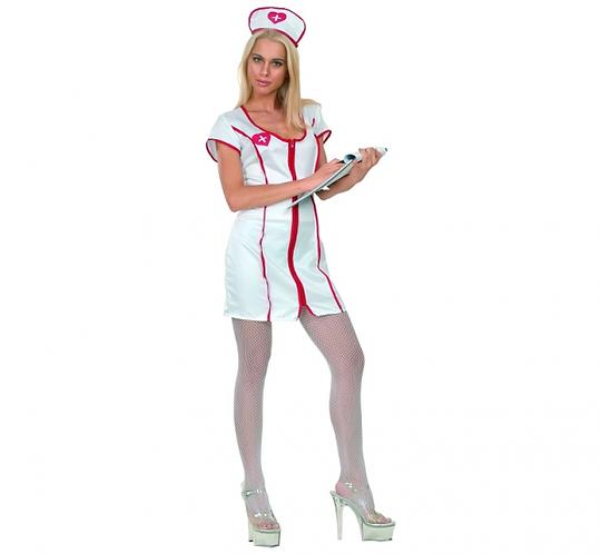 """Strój dla dorosłych """"Pielęgniarka"""" (czepek, sukienka), rozm.38"""
