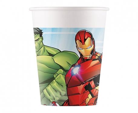 Kubeczki papierowe Mighty Avengers, 200 ml, 8 szt.