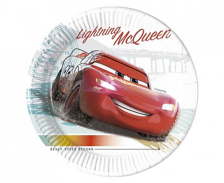 Talerzyki papierowe EKO Cars High Speed, 23 cm, 8 szt.
