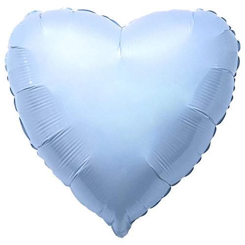 """Balon foliowy """"Serce"""", błękitne, 18"""" matowe"""