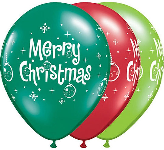 "Balon QL 11"" z nadr. ""Merry Christmas"""