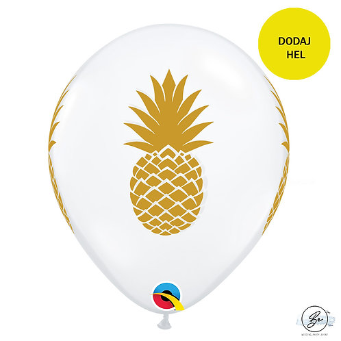 "Balon QL 11"" z nadr. ""Pineapple"", crystal transparent"