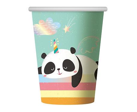 Kubeczki papierowe Rozmarzona Panda, 266 ml, 6 szt.