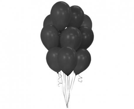 "Balony Beauty&Charm, pastelowe czarne 12""/ 10 szt."