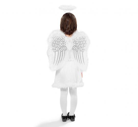 Strój dla dzieci Aniołek z puszkiem (skrzydła, aureola)