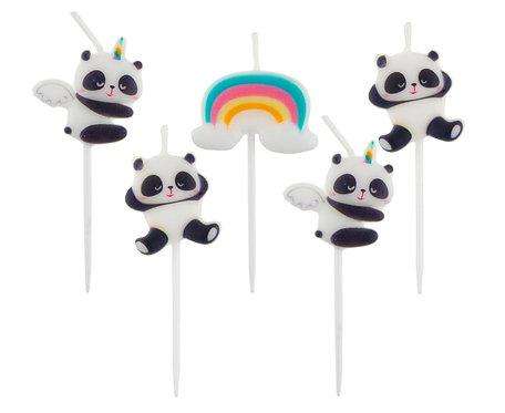 Świeczki pikery Panda, 5 szt.