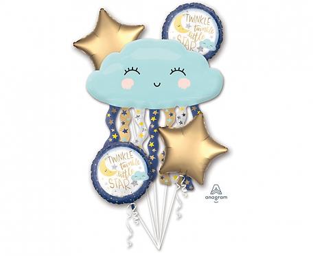 Bukiet z balonów Twinkle Little Star, 5 szt.