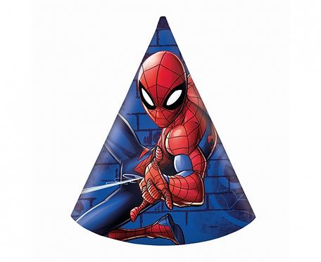"""Czapeczki papierowe """"Spiderman Team Up"""", 6 szt."""
