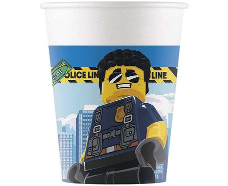 Kubeczki papierowe Lego City, 200 ml, 8 szt.