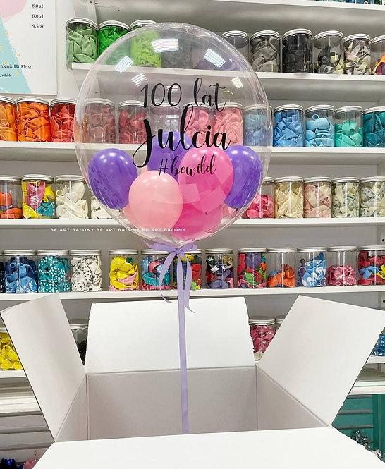 """Poczta balonowa - balon personalizowany 24"""" z balonikami napełniony helem"""