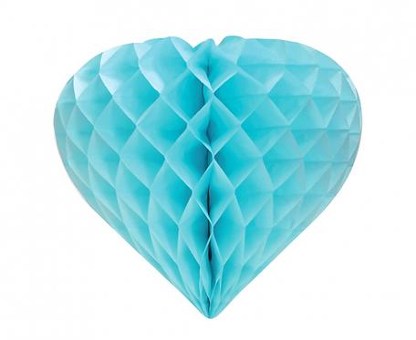 Rozeta dekoracyjna B&G Serce, jasnoniebieska, 26 cm