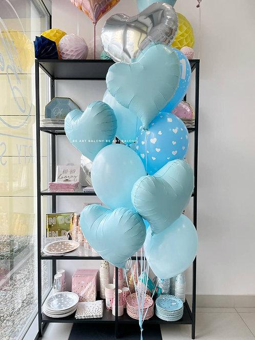 Bukiet balonowy Hey Gorgeous (niebieski)