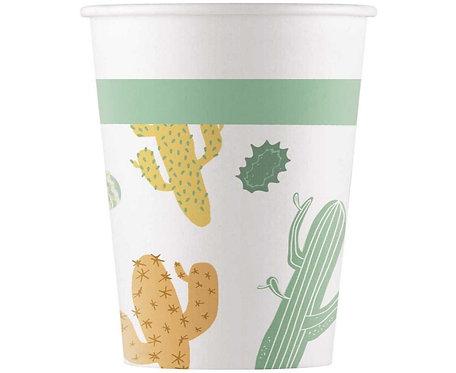 Kubeczki papierowe Cacti, 200 ml, 8 szt.