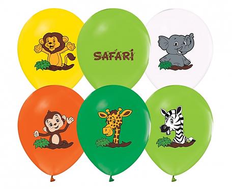 """Balony Safari, 12""""/ 5 szt."""