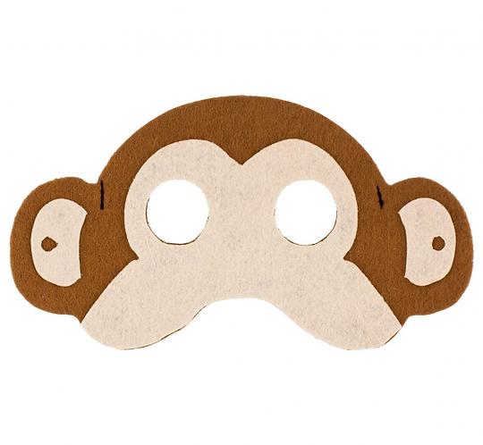 """Maska filcowa """"Małpka"""", rozm. 17.5 x 10 cm"""
