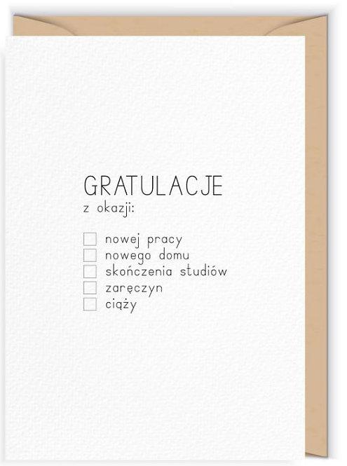 Kartka okolicznościowa - Cudowianki -Gratulacje z okazji...
