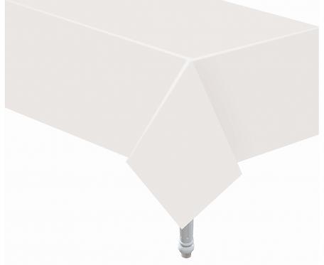Obrus papierowy biały, 132x183 cm