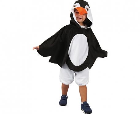 Peleryna dla dzieci Pingwin (z kapturem), rozm. 92/104 cm