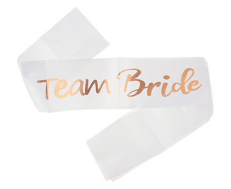 Szarfa GoGirls, Team bride, różowo-złota