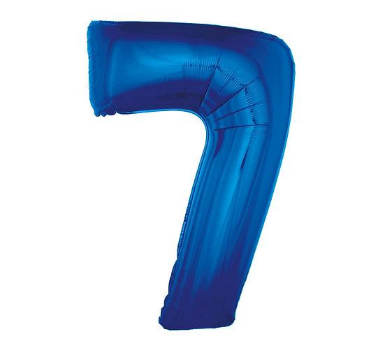 """Balon foliowy """"Cyfra 7"""", niebieska, 92 cm"""