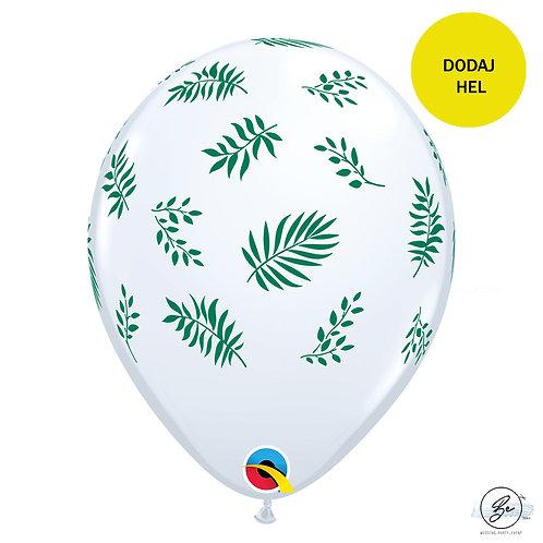 Balon 11 cali QL z nadr. Tropical Greenery