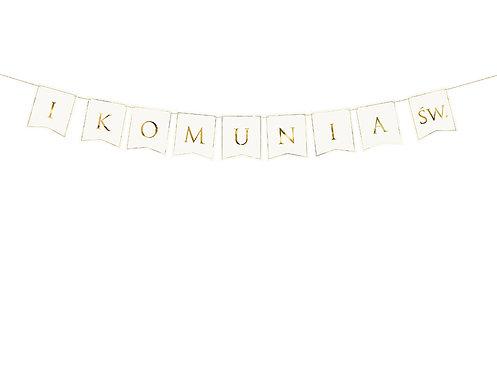 Baner I Komunia Św., 15x133cm