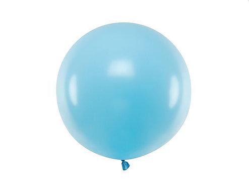 Balon gigant okrągły, Pastel Light Blue z możliwością personalizacji