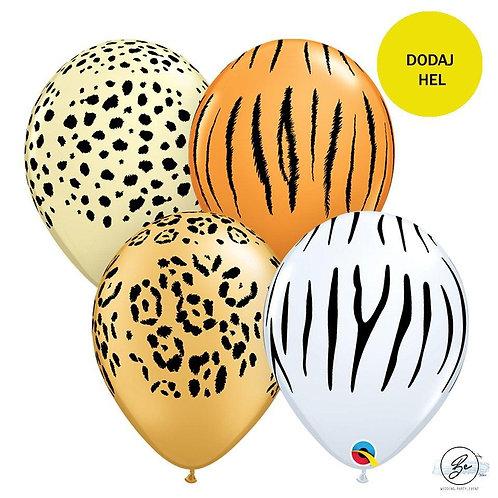 """Balon QL 11"""" z nadr. """"Maści zwierząt"""", pastel mix"""