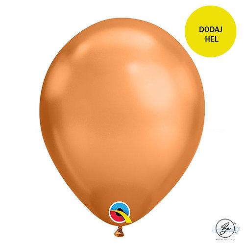 Balon 11 cali QL chrom miedziany