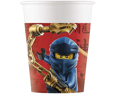 Kubeczki papierowe Lego Ninjago, 200 ml, 8 szt.
