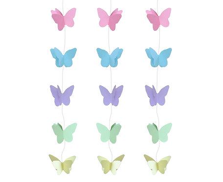 Dekoracja wisząca Pastel B&C Motylki Pastelowe