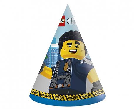 Czapeczki papierowe Lego City, 6 szt.